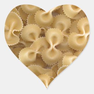 Pastas Farfalle de la pajarita Pegatina En Forma De Corazón
