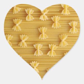 pastas pegatina en forma de corazón
