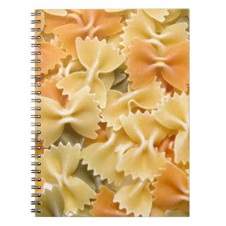 pastas secadas coloreadas multi libros de apuntes con espiral