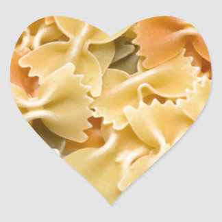 pastas secadas coloreadas multi pegatina en forma de corazón
