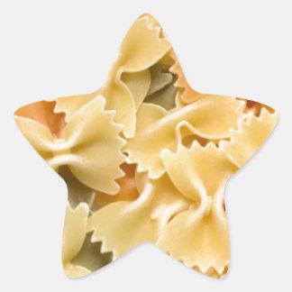 pastas secadas coloreadas multi pegatina en forma de estrella