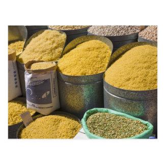 Pastas y habas secadas para la venta, Marrakesh, 2 Tarjetas Postales