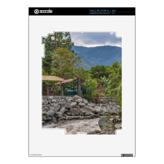 Pastaza River and Leafy Mountains in Banos Ecuador Decal For The iPad 2