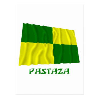Pastaza waving flag with Name Postcard