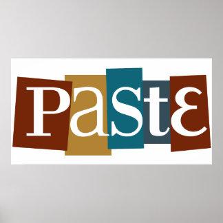 Paste Block Color Logo Print