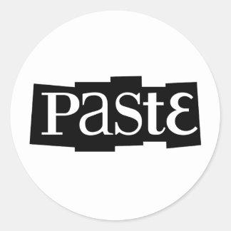 Paste Block Logo Black Classic Round Sticker