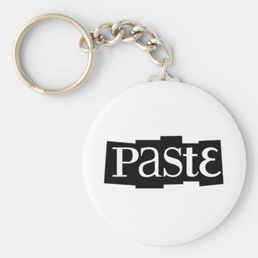 Paste Block Logo Black Key Chain