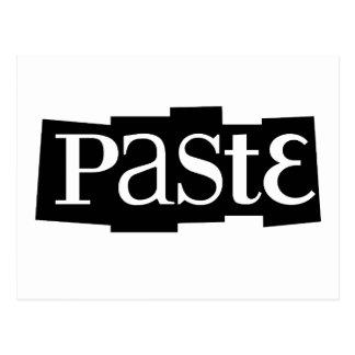 Paste Block Logo Black Postcards