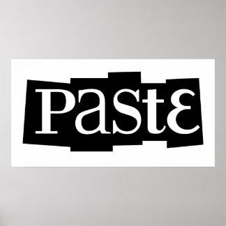 Paste Block Logo Black Poster