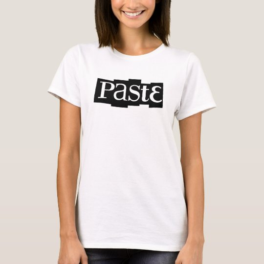 Paste Block Logo Black T-Shirt