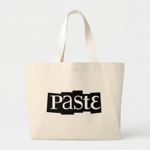 Paste Block Logo Black Tote Bags