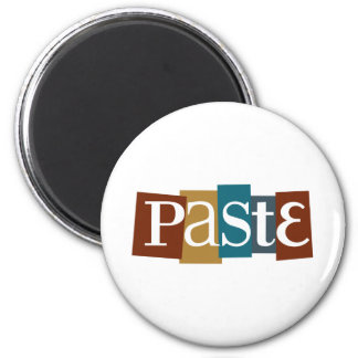 Paste Block Logo Color 2 Inch Round Magnet