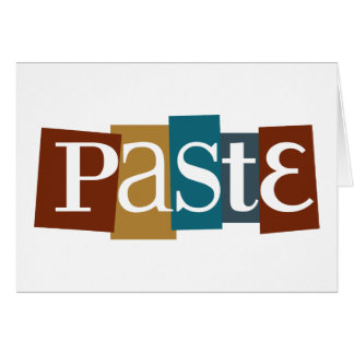 Paste Block Logo Color Card