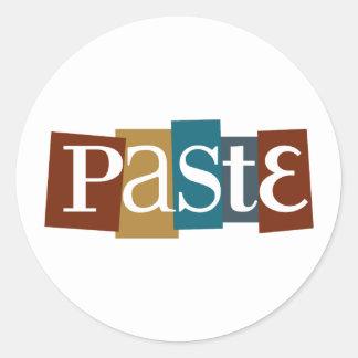 Paste Block Logo Color Classic Round Sticker