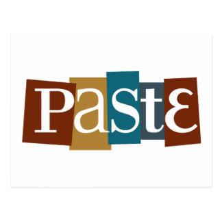 Paste Block Logo Color Post Card