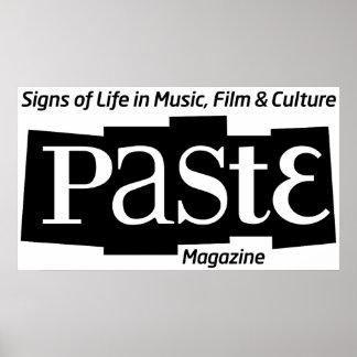 Paste Block Logo Mag and Tag Black Posters