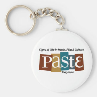 Paste Block Logo Mag and Tag Color Basic Round Button Keychain