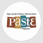 Paste Block Logo Mag and Tag Color Classic Round Sticker