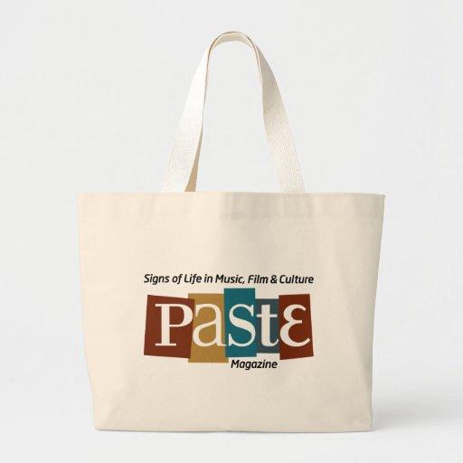 Paste Block Logo Mag and Tag Color Tote Bag