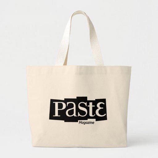 Paste Block Logo Magazine Black Jumbo Tote Bag
