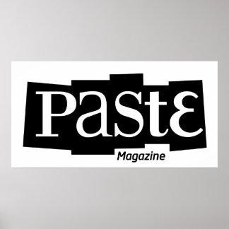 Paste Block Logo Magazine Black Poster