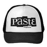 Paste Block Logo Magazine Black Trucker Hat