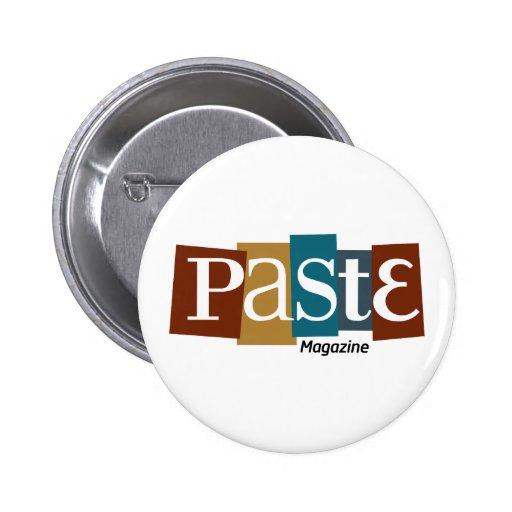 Paste Block Logo Magazine Color 2 Inch Round Button