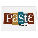 Paste Block Logo Magazine Color Greeting Card