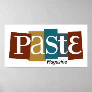 Paste Block Logo Magazine Color Poster
