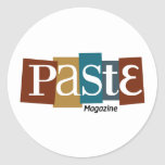Paste Block Logo Magazine Color Round Stickers