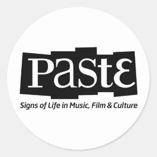 Paste Block Logo Tag on Bottom Black Classic Round Sticker