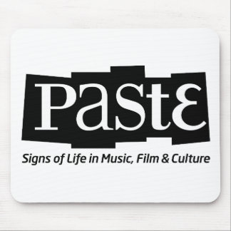Paste Block Logo Tag on Bottom Black Mouse Pad