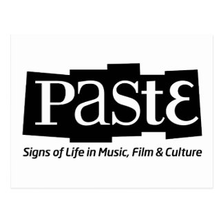 Paste Block Logo Tag on Bottom Black Post Card