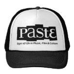 Paste Block Logo Tag on Bottom Black Trucker Hat
