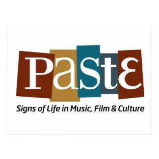 Paste Block Logo Tag on Bottom Color Postcard