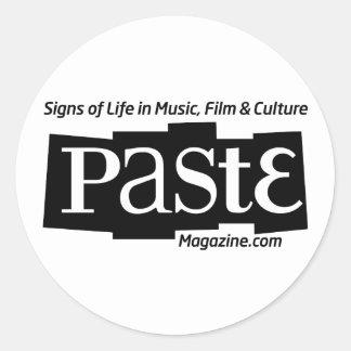 Paste Block Logo Url and Tag Black Classic Round Sticker
