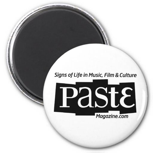Paste Block Logo Url and Tag Black 2 Inch Round Magnet