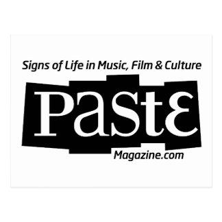 Paste Block Logo Url and Tag Black Post Card