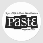 Paste Block Logo Url and Tag Black Classic Round Sticker