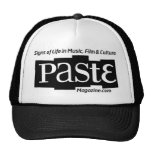 Paste Block Logo Url and Tag Black Trucker Hat