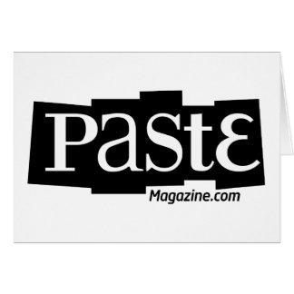 Paste Block Logo URL Black Greeting Card