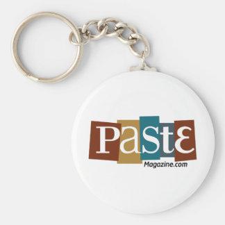 Paste Block Logo URL Color Basic Round Button Keychain
