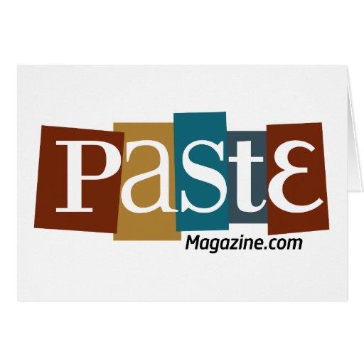 Paste Block Logo URL Color Greeting Card
