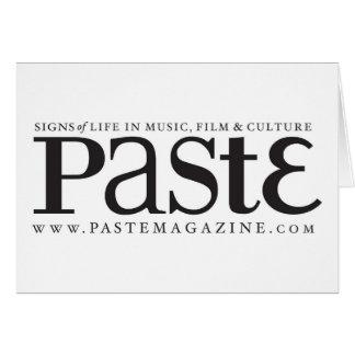 Paste Classic Black Logo Greeting Card