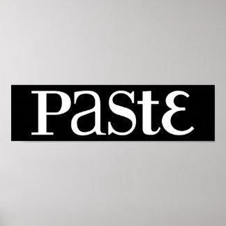 Paste Classic White Logo Poster Print