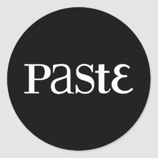 Paste Classic White Logo Sticker