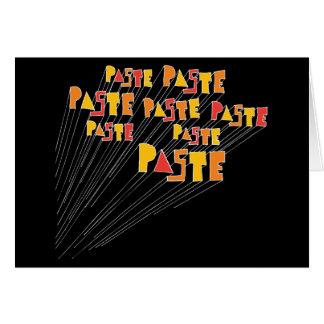Paste Hand Drawn Logo Array Greeting Card