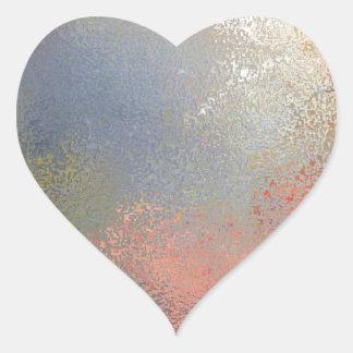 Pastel #2 heart sticker