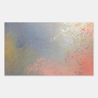 Pastel #2 rectangular sticker