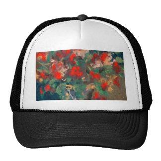 Pastel Abstract Art Floral Grandeur Flowers Hat